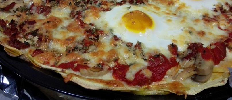 Pizza com base de batata-doce | Receitas saudáveis